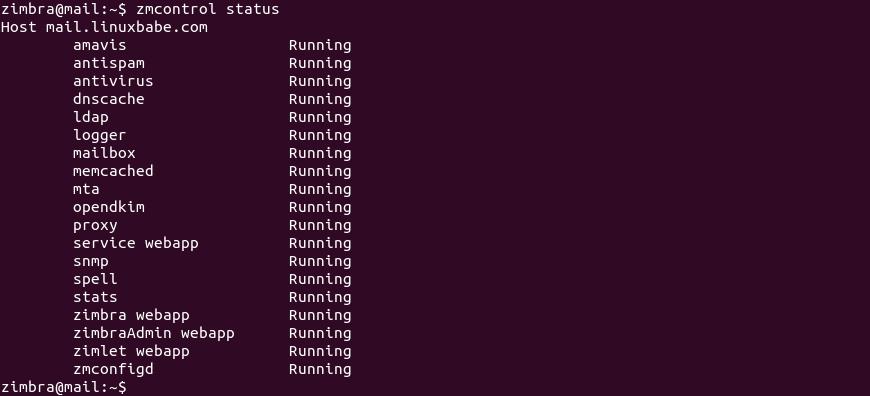 zmcontrol status