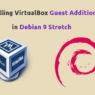 how to install guest addtions in Debian 9